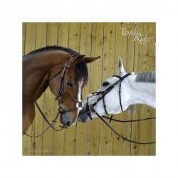 Assy snaffle bridle - cross...