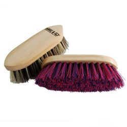 Two-colored grooming brush