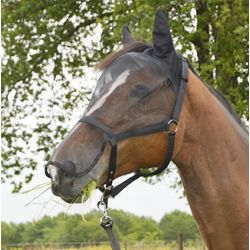 Fly mask - built-in nylon halter