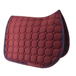 Burgundy dressage saddle pad Time Rider