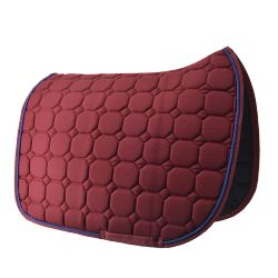 Burgundy Saddle pad Time Rider