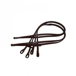 16mm rubber reins - Gold