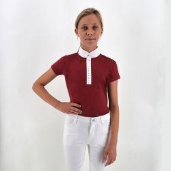 Polo de concours Pompadour - manches courtes - fille