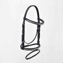 CLINCHER BRIDLE - COMBINED NOSEBAND - SILVER BUCKLES