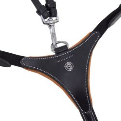 LEATHER BREASTPLATE 3 POINTS - SILVER BUCKLES