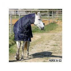 Fly summer sheet with built-in neck cover